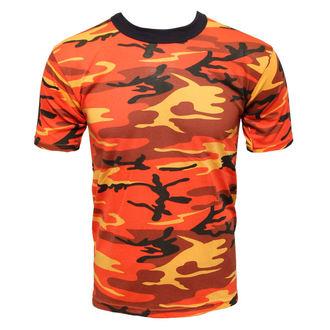 tričko maskáčové - oranžové