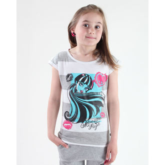 tričko dívčí TV MANIA - Monster High - White/Grey