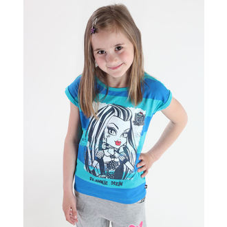 tričko dívčí TV MANIA - Monster High - Blue/Turquise - MOH 519