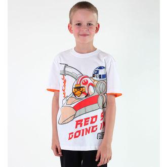 tričko chlapecké TV MANIA - Angry Birds / Star Wars - White - SWAB 327