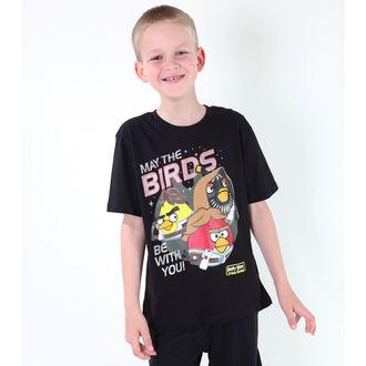 tričko chlapecké TV MANIA - Angry Birds / Star Wars - Black