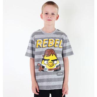 tričko chlapecké TV MANIA - Angry Birds / Star Wars - Grey - SWAB 324