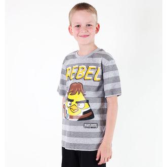 tričko chlapecké TV MANIA - Angry Birds / Star Wars - Grey