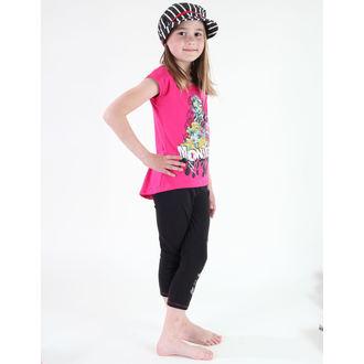 set dívčí ( tričko, legíny) TV MANIA - Monster High - Pink/Black