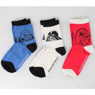 ponožky TV MANIA - Angry Birds / Star Wars - Black/Blue/Red, TV MANIA