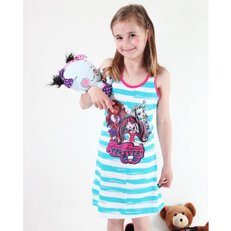 šaty dívčí TV MANIA Monster High - White/Turquise