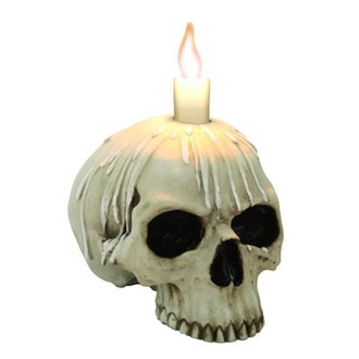 svícen (dekorace) Candle skull w/o lower jaw