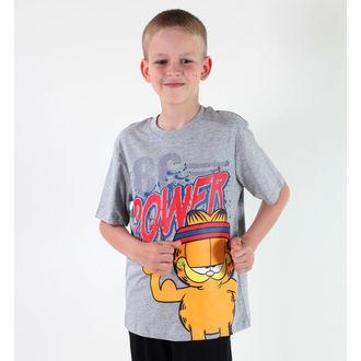 tričko chlapecké TV MANIA - Garfield - Grey, TV MANIA