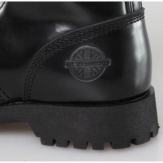 boty NEVERMIND - 10 dírkové - Black Polido