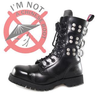 boty NEVERMIND - 10 dírkové - Rivets Black, NEVERMIND