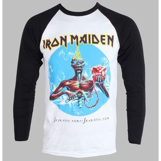 tričko pánské s dlouhým rukávem Iron Maiden - Seventh Son - White - ROCK OFF - IMRL01