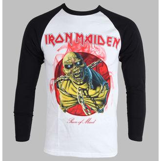 tričko pánské s dlouhým rukávem Iron Maiden - Piece Of Mind - White - ROCK OFF - IMRL02