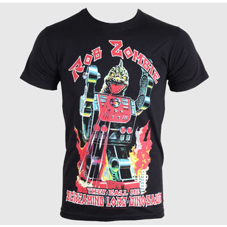 tričko pánské Rob Zombie - Lord Dinosaur - Black - ROCK OFF, ROCK OFF, Rob Zombie