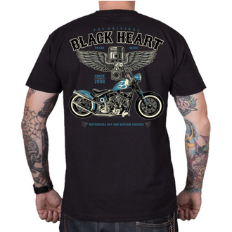 tričko pánské BLACK HEART - BLUE CHOPPER - BLACK, BLACK HEART