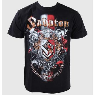 tričko pánské Sabaton -Swedisch Empire Live - Black - CARTON