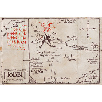 plakát Hobit - Mountain Map - GB posters, GB posters