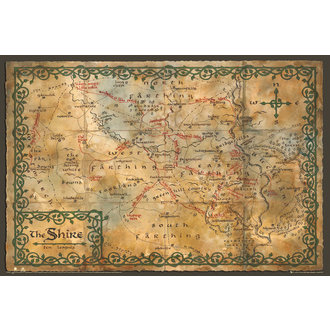 plakát Hobit - Map of the Shire - GB posters, GB posters