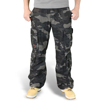 kalhoty pánské SURPLUS - Airborne Vintage Trousers - Black Camo - 05-3598-42