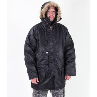bunda pánská zimní ROTHCO - N-3B PARKA - BLACK, ROTHCO