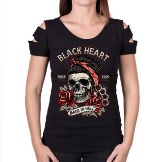 tričko dámské BLACK HEART - JENY DESTROY - BLACK, BLACK HEART