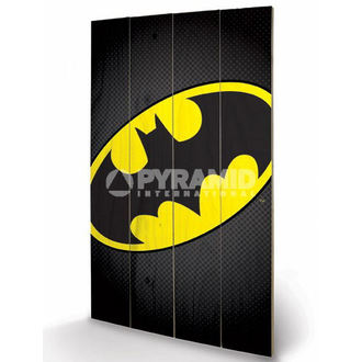 dřevěný obraz DC Comics - Batman Symbol - PYRAMID POSTERS, PYRAMID POSTERS, Batman