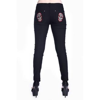 kalhoty dámské BANNED - Sugar Skull - Black - TBN423