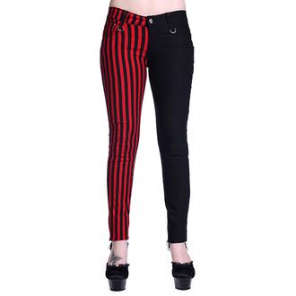 kalhoty dámské BANNED - Striped - Half Black/Half Red - TBN416