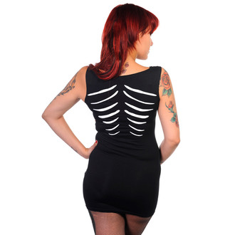 šaty dámské (tunika) BANNED - Glow In The Dark Skeleton - Black - DBN536