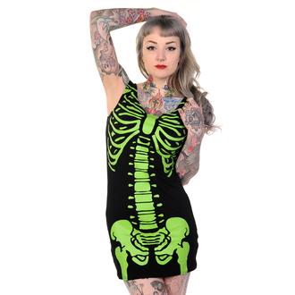 šaty dámské (tunika) BANNED - Skeleton - Green