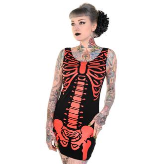 šaty dámské (tunika) BANNED - Skeleton - Red - DBN522RED