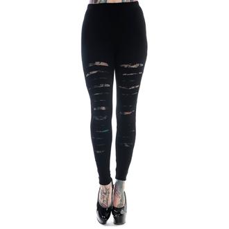 kalhoty dámské (leginy) BANNED - Slashed - Black -  LBN1105BLK