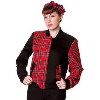 bunda dámská BANNED - Tartan - Half Black/Half Red- JBN612