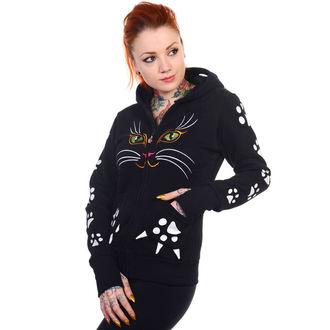 mikina dámská BANNED - Cat - Black - HBN016