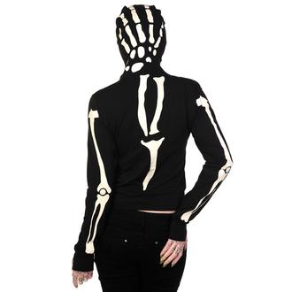 mikina dámská BANNED - Glow In The Dark Skeleton Hand - Black