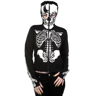 mikina dámská BANNED - Skeleton - Black, BANNED
