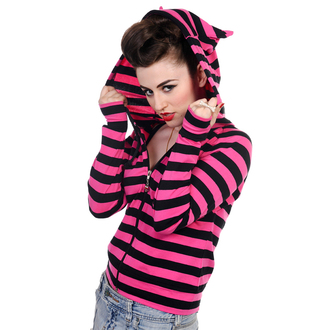 mikina dámská BANNED - Cat Ears Dark Pink, BANNED