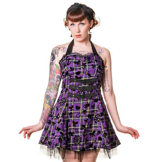 šaty dámské BANNED - Purple Tartan, BANNED