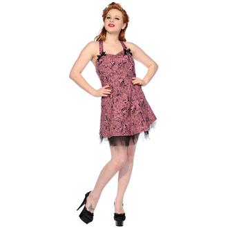 šaty dámské BANNED - Pink Skull And Roses, BANNED