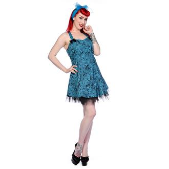 šaty dámské BANNED - Blue Skull Roses - DBN526BLU
