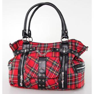 taška,kabelka BANNED - Red Tartan - BBN755