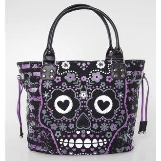 taška,kabelka BANNED - Sugar Skull - Purple - BBN760