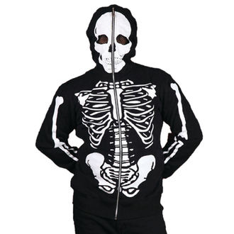 mikina pánská BANNED - Skeleton - Black, BANNED