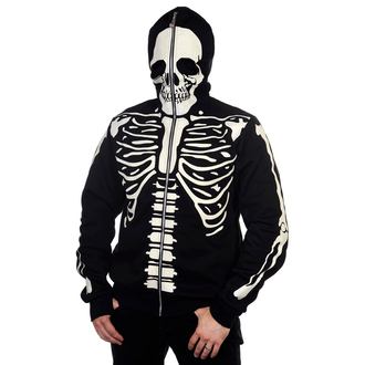 mikina pánská BANNED - Black Glow In The Dark Skeleton, BANNED