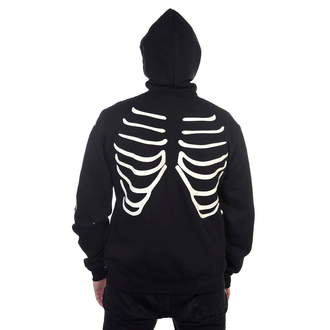 mikina pánská BANNED - Black Glow In The Dark Skeleton