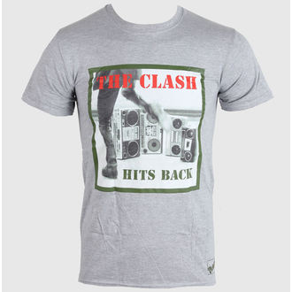 tričko pánské  THE CLASH - HITS BACK - GREY - LIVE NATION, LIVE NATION, Clash