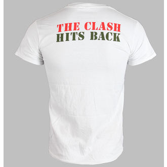 tričko pánské THE CLASH - HITS BACK JUMBO - WHITE - LIVE NATION
