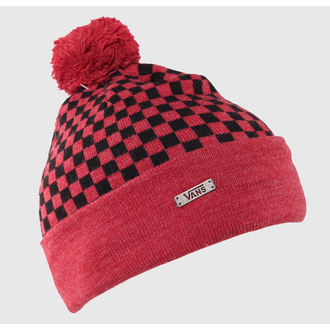 kulich VANS - Checkerboard Pom P - Heather Red, VANS