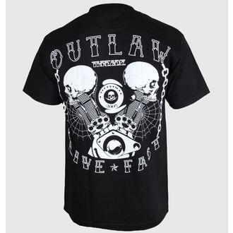 tričko pánské Outlaw Threadz - Live Fast, OUTLAW THREADZ