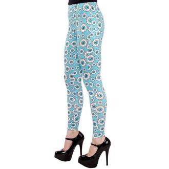 kalhoty (legíny) dámské SOURPUSS - Optical Delusion - Aqua, SOURPUSS