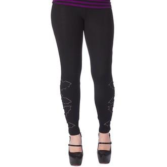 kalhoty (legíny) dámské SOURPUSS - The Bats - Black, SOURPUSS